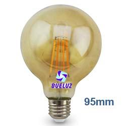 Lampara Globo LED E-27 95mm 7W 2500K  -
