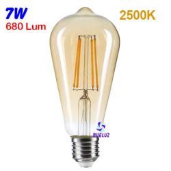 Lampara Pera LED E-27 Vintage 7W 2500K