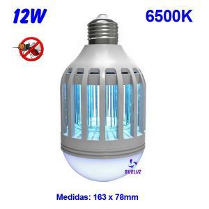 Lampara Matamosquitos LED con luz 12W 6500K