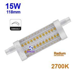 Lampara Lineal LED 118mm 15W 2700K REGULABLE apertura 360º