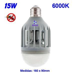 Lampara Matamosquitos con luz LED 15W