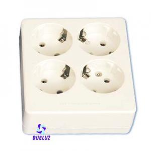 Base multiple 4-T  T/T sin cable cuadrada