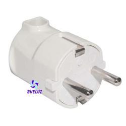 Clavija T/T-L 4,8mm salida lateral Blanca