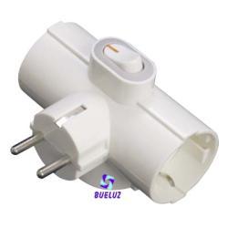 Clavija Triple T/T-Lateral C/Interruptor