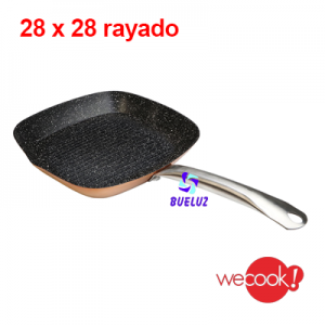 GRILL ALUMINIO RAYADO ACABADO PIEDRA 28x28 cm