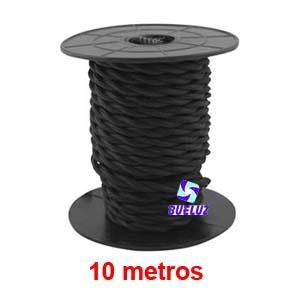Cable Trenzado 2 x 0,75 Negro 10 metros
