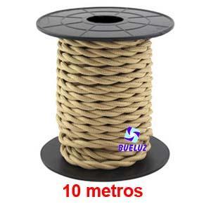Cable Trenzado 2 x 0,75 Beig 10 metros -