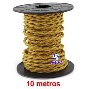 Cable Trenzado 2 x 0,75 Dorado 10 metros