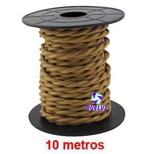 Cable Trenzado 2 x 0,75 Marrón Claro 10 metros -