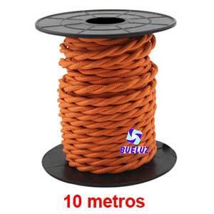 Cable Trenzado 2 x 0,75 Naranja 10 metros -