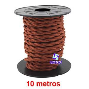 Cable Trenzado 2 x 0,75 Cobrizo 10 metros -