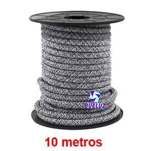 Cable Trenzado 2 x 0,75 Negro/Gris 10 metros -