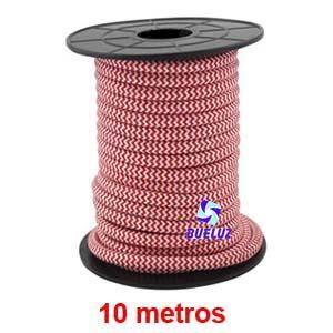 Cable Trenzado 2 x 0,75 Rojo/Blanco 10 metros -