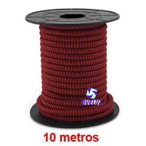 Cable Trenzado 2 x 0,75 Rojo/Negro 10 metros -