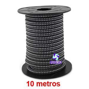 Cable Trenzado 2 x 0,75 Negro/Blanco 10 metros -