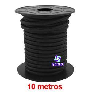 Cable Trenzado 2 x 0,75 Negro 10 metros -