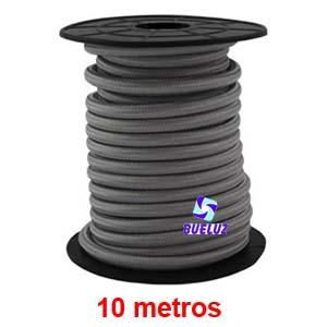 Cable Trenzado 2 x 0,75 Gris Claro 10 metros -