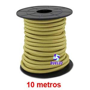 Cable Trenzado 2 x 0,75 Champagne 10 metros