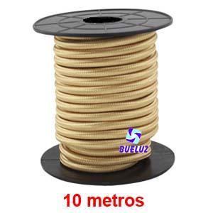 Cable Trenzado 2 x 0,75 Dorado 10 metros -