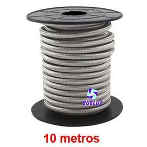 Cable Trenzado 2 x 0,75 Plateado 10 metros -