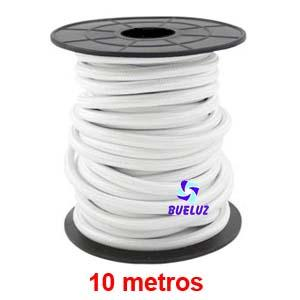 Cable Trenzado 2 x 0,75 Blanco 10 metros -