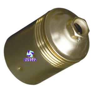 Portalamparas metalico liso E-27