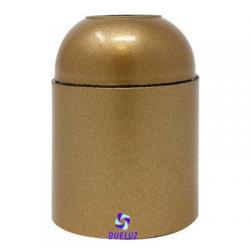 Portalamparas Baquelita E-27 liso dorado
