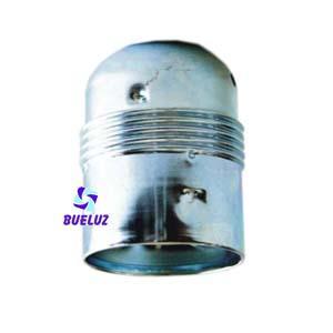 Portalamparas metalico E-27 cromado Liso -