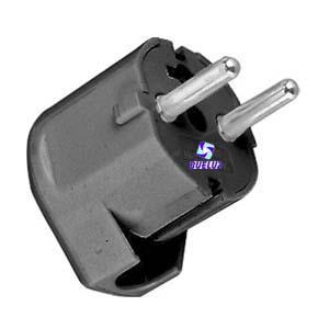 Clavija T/T-L 4,8mm salida lateral Negra -