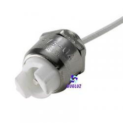 Portalámparas individual R7S con 50 cm cable y tuerca