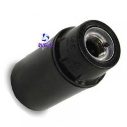 Portalamparas termoplastico liso E-14 Negro