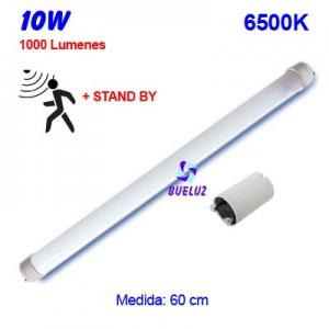 TUBO LED T8 60cm 10W 6500K DETECTOR MOVIMIENTO+STAND BY