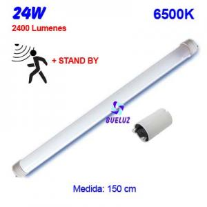 TUBO LED T8 150cm 24W 6500K DETECTOR MOVIMIENTO+STAND BY