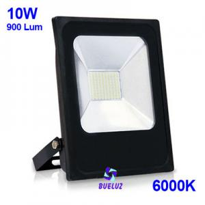Proyector LED plano 10W 6000K Negro -