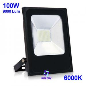 Proyector LED plano 100W 6000K Negro -