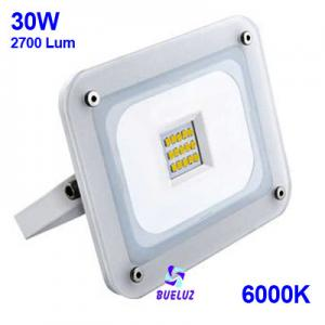 Proyector LED ultraplano 30W 6000K Blanco -