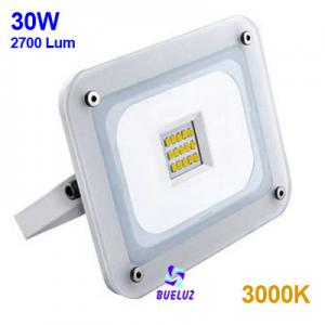 Proyector LED ultraplano 30W 3000K Blanco -