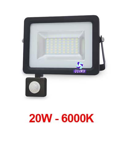 PROYECTOR LED 20W 6000K CON DETECTOR NEGRO