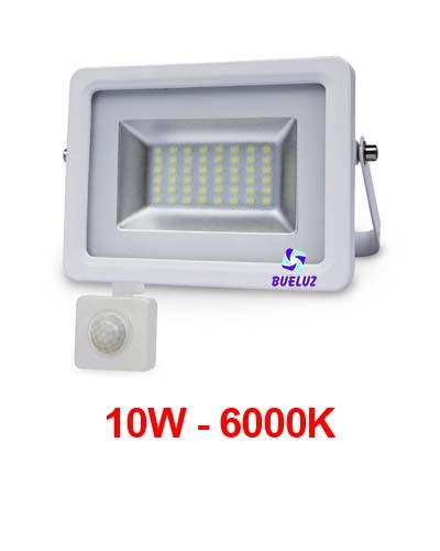 PROYECTOR LED 10W 6000K CON DETECTOR BLANCO