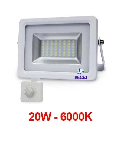 PROYECTOR LED 20W 6000K CON DETECTOR BLANCO