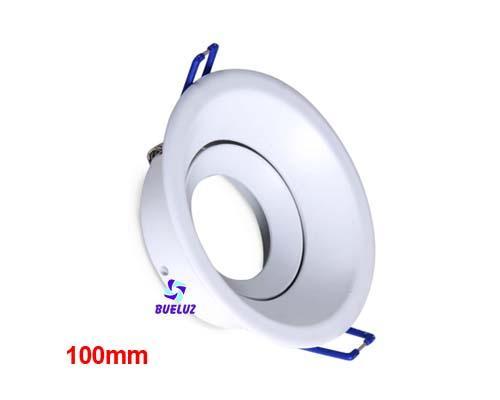 Aro empotrar redondo basculante Blanco 100mm Aluminio