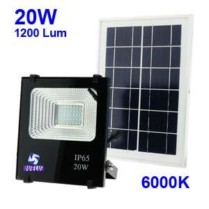Proyector LED Solar 20W 6000K  -