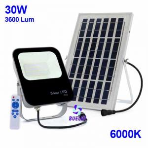 Proyector LED Solar 30W 6000K  -