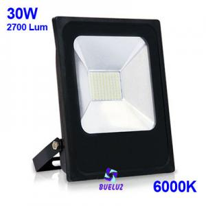Proyector LED plano 30W 6000K Negro -