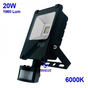 PROYECTOR LED 20W 6000K CON DETECTOR