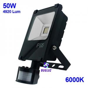 PROYECTOR LED 50W 6000K CON DETECTOR