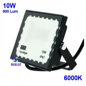 PROYECTOR LED 10W PLANO 6000K NEGRO