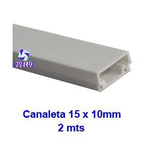 Canaleta PVC Adhesiva 15 x 10mm (2mts) Blanca