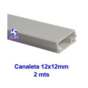 Canaleta PVC Adhesiva 12 x 12mm (2mts)