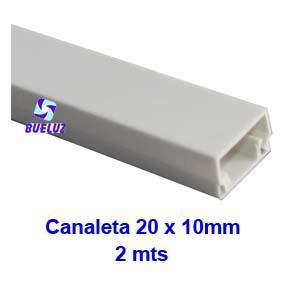 Canaleta PVC adhesiva 20 x 10mm (2mts) Blanco -